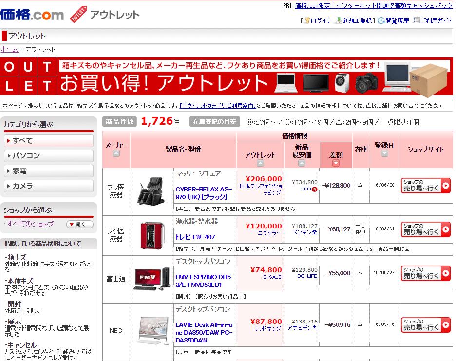 価格.com-アウトレット